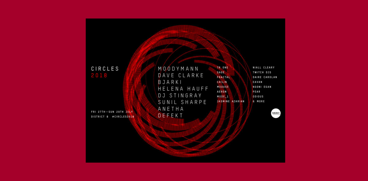 Moodyman, Sunil Sharpe, Defekt, Dave Clarke and many more for Circles 2018 at District 8
